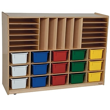 Wood Designs™ Multi-Storage With 15 Assorted Trays, Birch