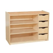 Wood Designs™ Plywood Storage Center With Drawers