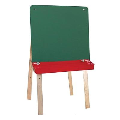 Wood Designs™ Tot Furniture Tot-Size Double Chalkboard Easel, Birch/Green