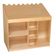 Wood Designs™ 11-Ply Baltic Plywood Mobile Listening and Storage Center, Birch