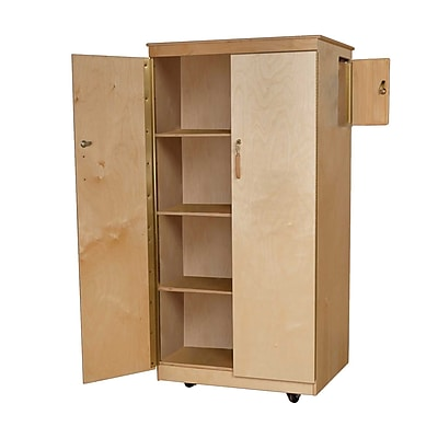 Wood Designs Teachers LockIt Up Cabinet With 4 Large Storage
