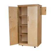 Wood Designs™ Teachers Lock-It Up Cabinet With 4 Large Storage Shelves, Birch