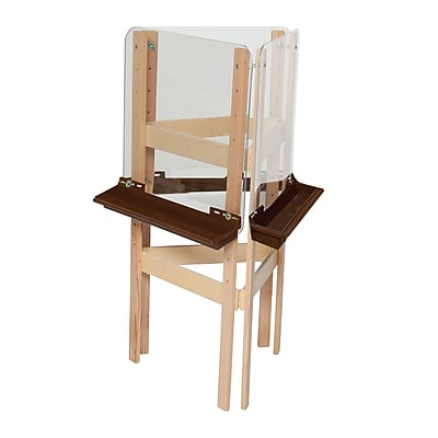 Wood Designs™ Art 3-Sided Easel With Acrylic and Brown Tray, Birch