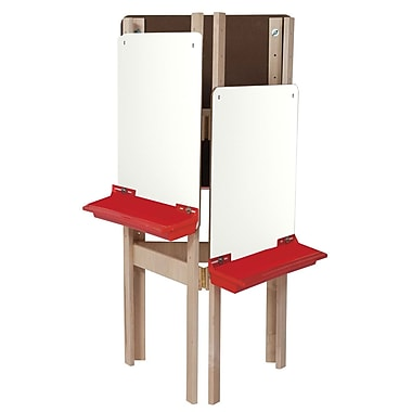 Wood Designs™ Art 3-Sided Easel With Markerboard, Birch