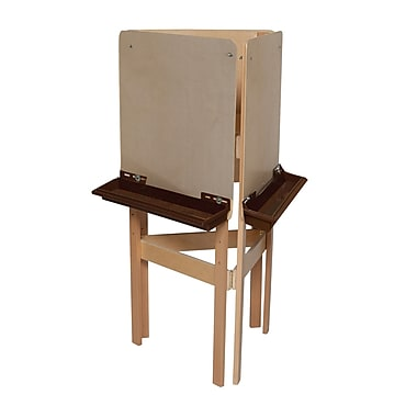 Wood Designs™ Art 3-Sided Easel With Plywood and Brown Tray, Birch