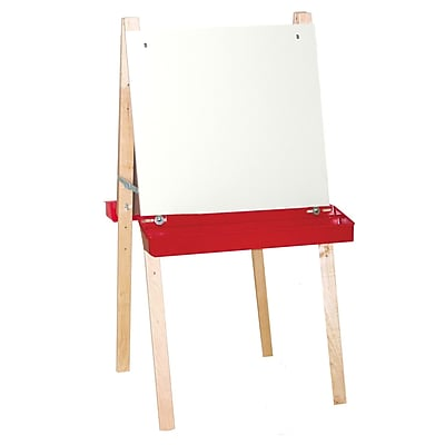 Wood Designs™ Art Double Adjustable Easel With Markerboard, Birch