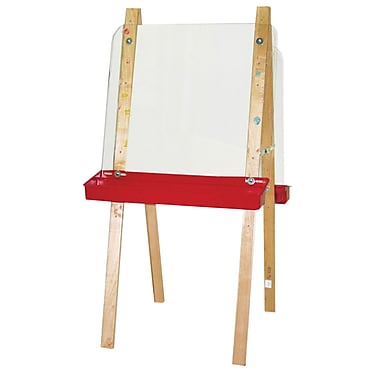 Wood Designs™ Art Double Easel With Acrylic 2 Sides, Birch