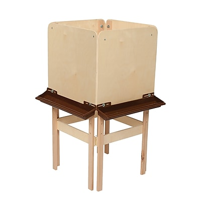 Wood Designs™ Art 4 Side Easel With Plywood and Brown Tray, Birch
