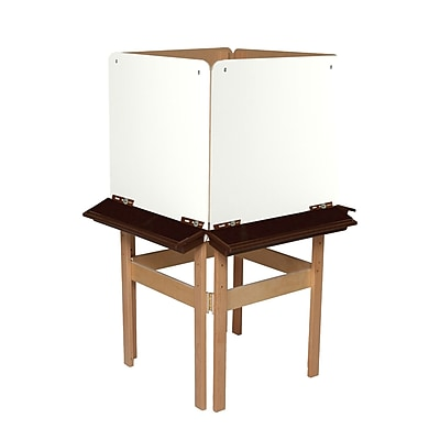 Wood Designs™ Art 4 Sided Easel With Marker Board and Brown Tray, Birch