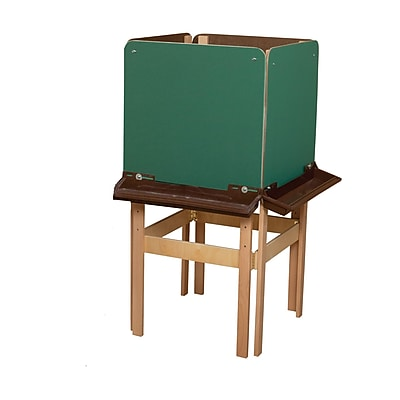 Wood Designs™ Art 4 Side Easel With Chalkboard and Brown Tray, Birch