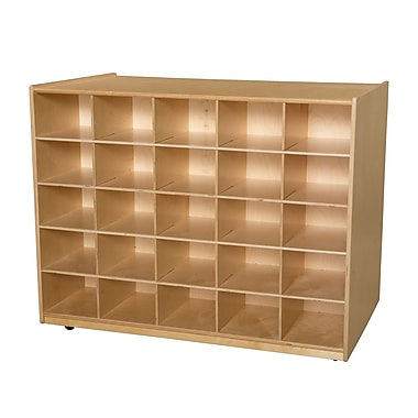 Wood Designs 25 Tray Shelves Island Without Trays, Birch