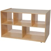 "Wood Designs™ Storage 30""H Double Storage Island With Acrylic, Birch"