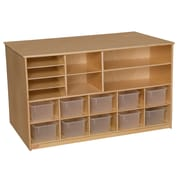 Wood Designs™ Storage Versatile Storage With 10 Clear Trays, Birch