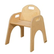 "Wood Designs™ 22 3/8""(H) Plywood Woodie Chair, Natural, 2/Pack"