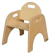 """Wood Designs 9""""(H) Plywood Woodie Chair, Natural, 2/Pack"""