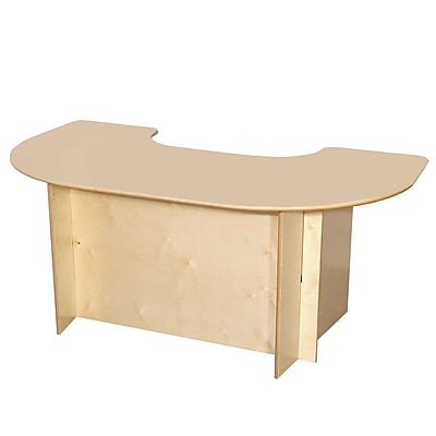Wood Designs™ Horseshoe Plywood Group Interaction Table, Natural
