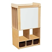 Wood Designs Store-It-All Teaching Center With 3 Brown Trays