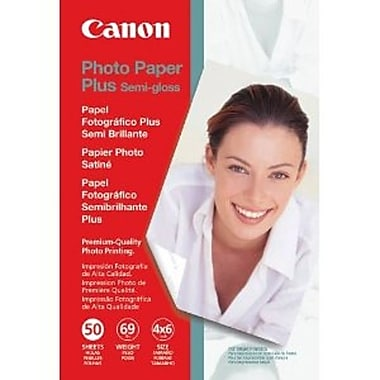 Canon – Papier photo Plus, semi-lustré, 4 x 6 po, 50/paquet