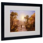 """Trademark Fine Art 20"""" x 16"""" Acrylic Matted Framed Art Black Frame"""