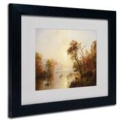 """Trademark Fine Art 11"""" x 14"""" Wooden Frame Framed Art, Black Frame"""