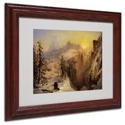 "Trademark Fine Art 11"" x 14"" Acrylic Framed Art, Wood Frame"