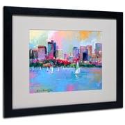 """Trademark Fine Art 16"""" x 20"""" Framed Art, Black Frame"""