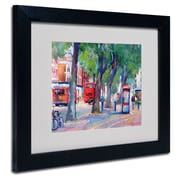 "Trademark Fine Art 14"" x 11"" Acrylic Chicago 6, Black Frame"