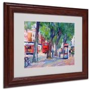 "Trademark Fine Art 14"" x 11"" Acrylic Chicago 6, Dark Wood Frame"
