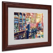 "Trademark Fine Art 11"" x 14"" Acrylic Fuller 2, Dark Wooden Frame"
