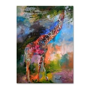 "Trademark Fine Art 32"" x 24"" Wooden Frame Giraffe Artwork"