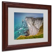 "Trademark Fine Art 11"" x 14"" Canvas, Wood Fog Artwork, Wood Frame"