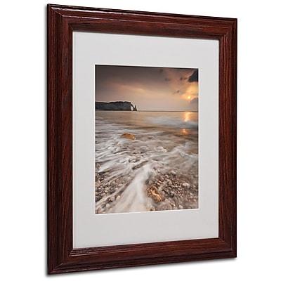 "Trademark Fine Art 14"" x 11"" Acrylic Etretat, Wood Frame"