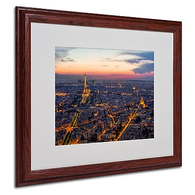 "Trademark Fine Art 16"" x 20"" Acrylic The Roofs of Paris, Wood Frame"