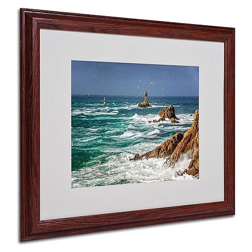 trademark fine art 16 x 20 canvas storm in pointe du raz wood frame staples. Black Bedroom Furniture Sets. Home Design Ideas