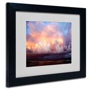 "Trademark Fine Art 11"" x 14"" Acrylic Evening, Black Frame"