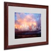 """Trademark Fine Art 16"""" x 20"""" Acrylic An Evening, Wood"""