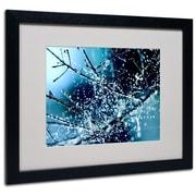 "Trademark Fine Art 16"" x 20"" Acrylic Blue Rhapsody, Black Frame"