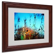 "Trademark Fine Art 11"" x 14"" Acrylic Painted by Nature, Wood Frame"