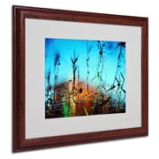 "Trademark Fine Art 16"" x 20"" Acrylic Painted by Nature, Wood Frame"