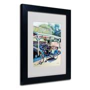 "Trademark Fine Art 14"" x 11"" Acrylic Farmstand Matted, Black Frame"