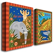 "Trademark Fine Art 19"" x 14"" Wooden Frame Gallery Wrapped Art, Set/2"