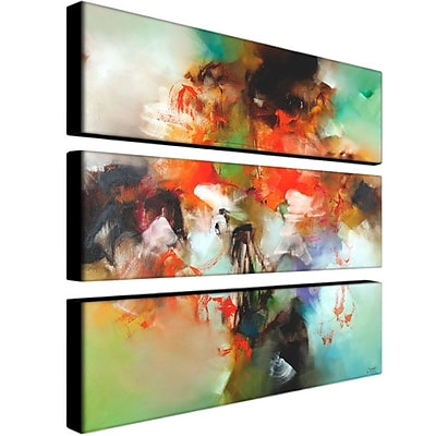 """Trademark Fine Art 10"""" x 32"""" ABS, Canvas Gallery Wrapped Abstract II"""