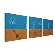 """Trademark Fine Art 18"""" x 18"""" Wooden Frame Wall Art"""