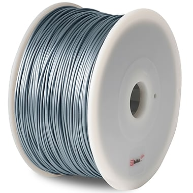 Flashforge™ BuMat™ Elite 1.75 mm 2.2lbs. ABS Filament With Spool For FFF 3D Printer, Silver