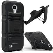 i-Blason Prime Dual Layer Holster Case With Kickstand For Samsung Galaxy S4, Black
