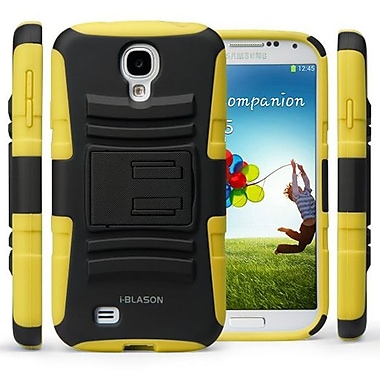 i-Blason Prime Dual Layer Holster Case With Kickstand For Samsung Galaxy S4, Yellow