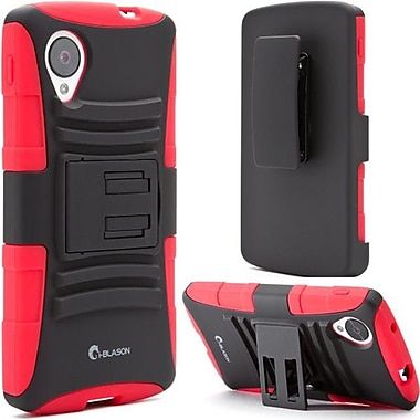 i-Blason Prime Series Dual Layer Holster Case With Belt Clip For Google Nexus 5, Red