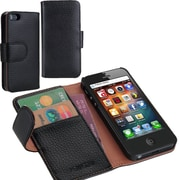 i-Blason Book Folio Wallet Case For iPhone 5C, Black