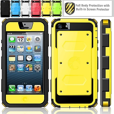 i-Blason Armorbox Dual Layer Hybrid Protective Case For iPhone 5C, Yellow
