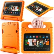 """i-Blason Armorbox Kido Series Light Weight Stand Case For 7"""" Amazon Kindle Fire HDX 2013, Orange"""